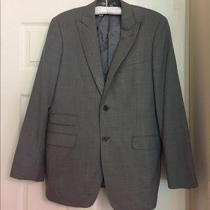 Ralph Lauren 100% Wool Gray Suit Wedding / Formal